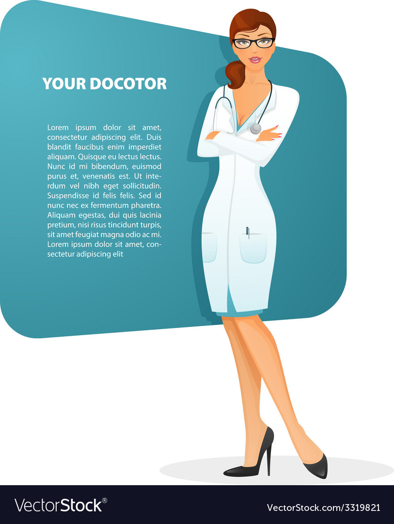 Doctor woman character image vector | Price: 1 Credit (USD $1)