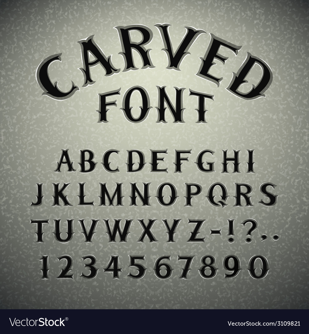 Font carved in stone vector | Price: 1 Credit (USD $1)