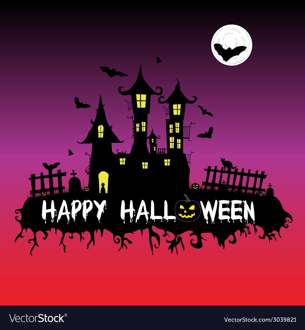 Happy halloween part one vector | Price: 1 Credit (USD $1)
