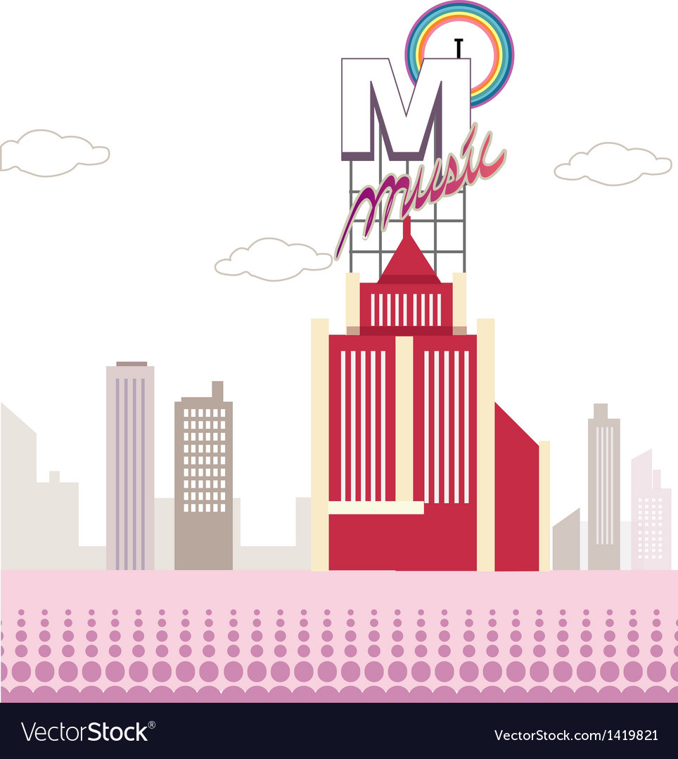 Music city scene vector | Price: 1 Credit (USD $1)