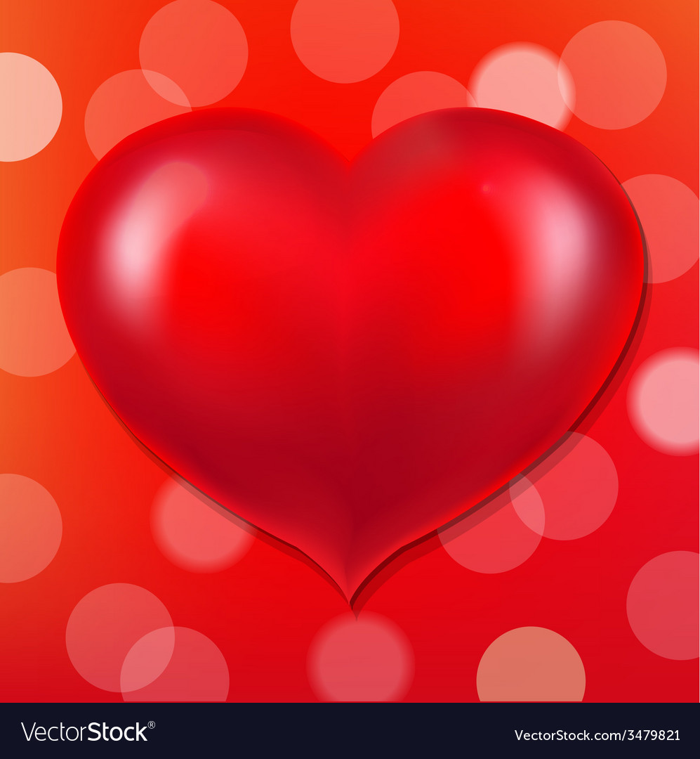 Red poster with bokeh and heart vector   Price: 1 Credit (USD $1)
