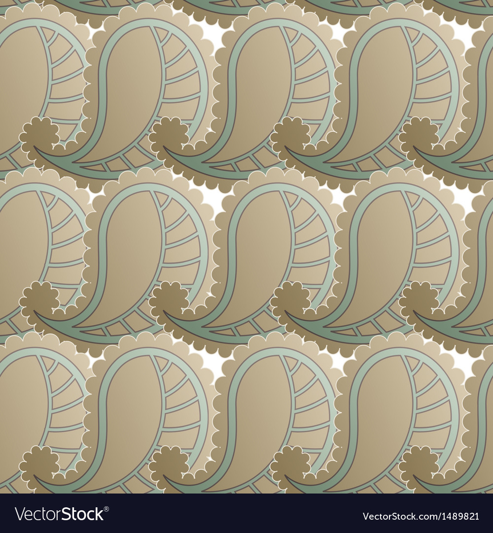 Seamless pattern with retro drawing vector | Price: 1 Credit (USD $1)