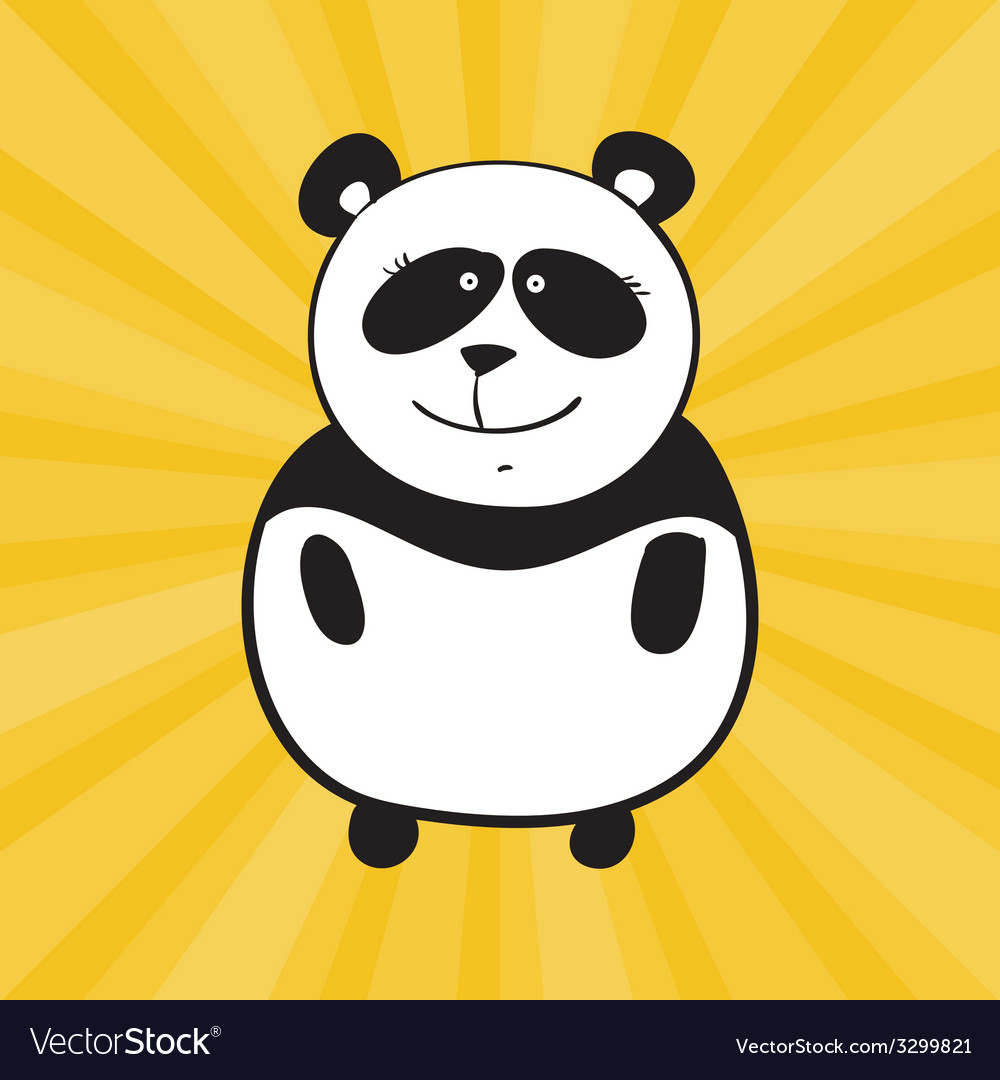 Smile panda vector | Price: 1 Credit (USD $1)