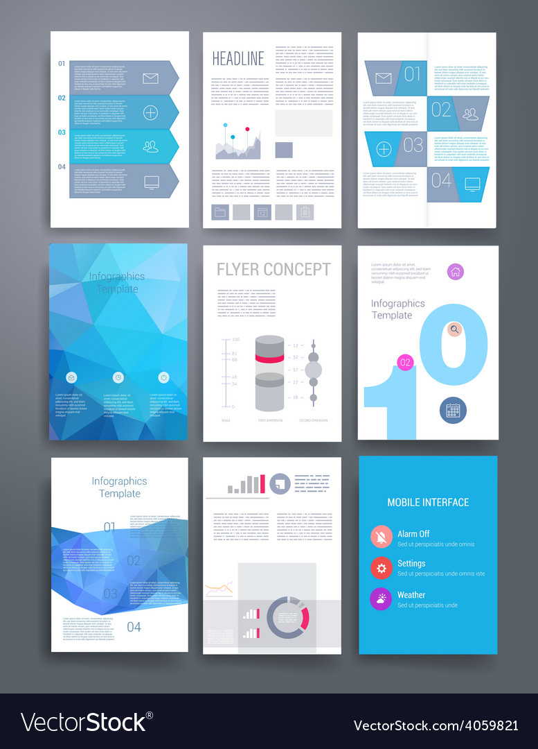 Templates flyer brochure magazine cover vector | Price: 3 Credit (USD $3)