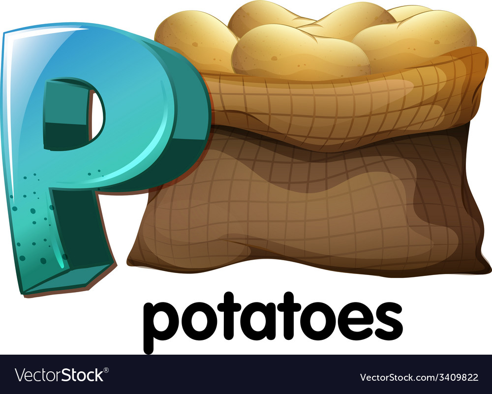 A letter p for potatoes vector | Price: 1 Credit (USD $1)