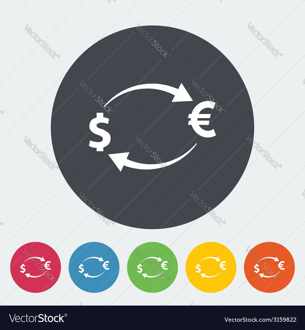 Currency exchange single icon vector | Price: 1 Credit (USD $1)