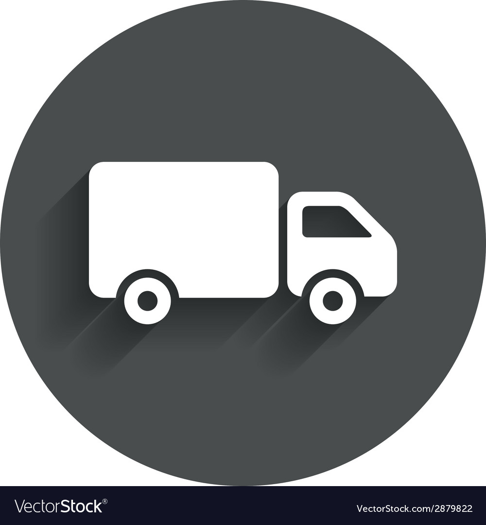 Delivery truck sign icon cargo van symbol vector | Price: 1 Credit (USD $1)