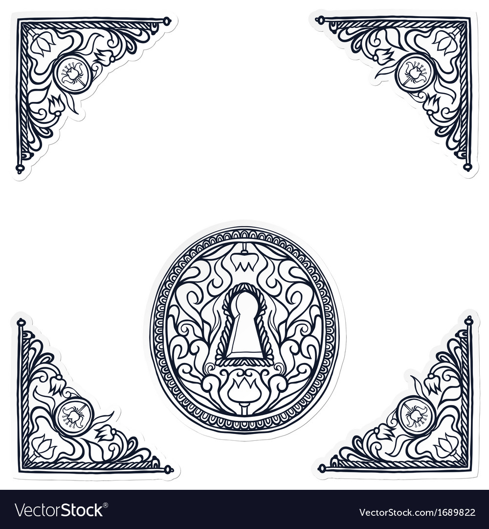 Detailed of highly decorated keyhole vector | Price: 1 Credit (USD $1)