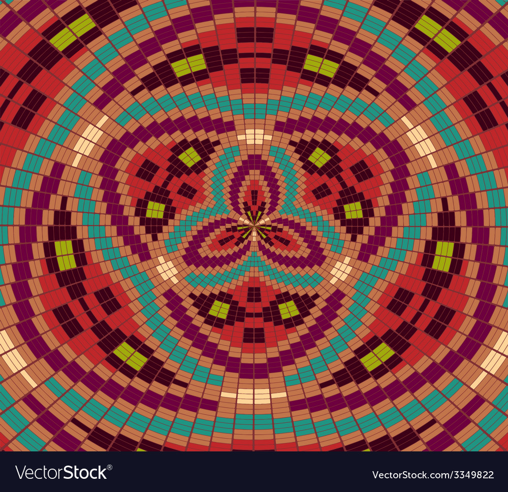 Ethnic geometric ornament pattern background vector | Price: 1 Credit (USD $1)