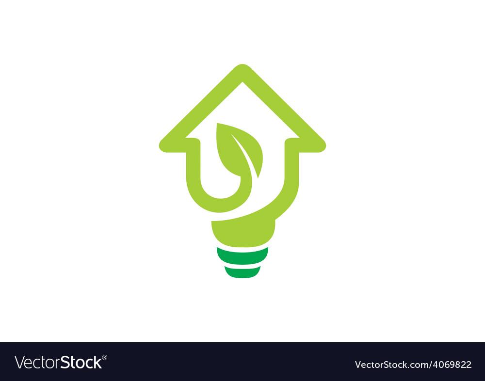 Home design idea concept ecology logo vector | Price: 1 Credit (USD $1)
