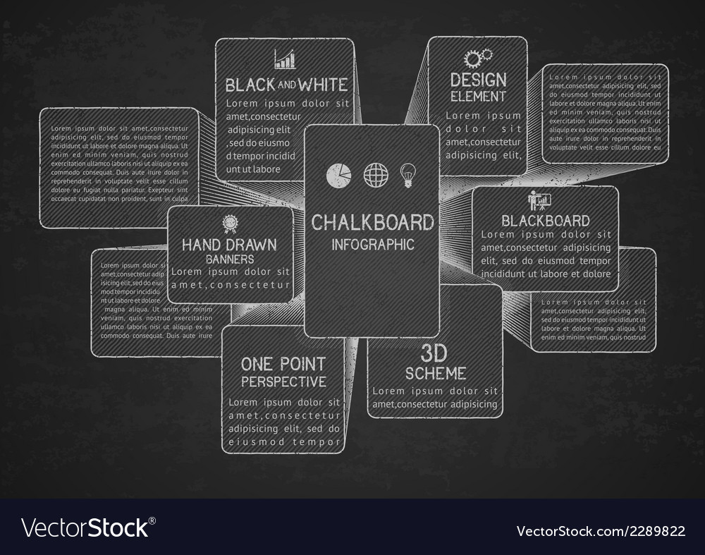 Infographic template on chalkboard vector | Price: 1 Credit (USD $1)