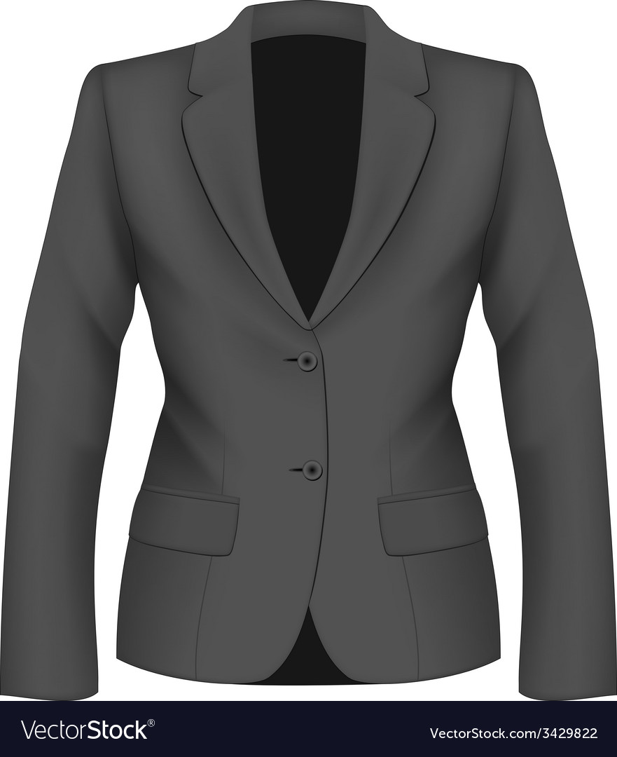 Ladies black suit jacket vector | Price: 1 Credit (USD $1)