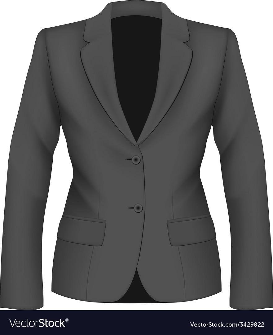 Ladies black suit jacket vector   Price: 1 Credit (USD $1)