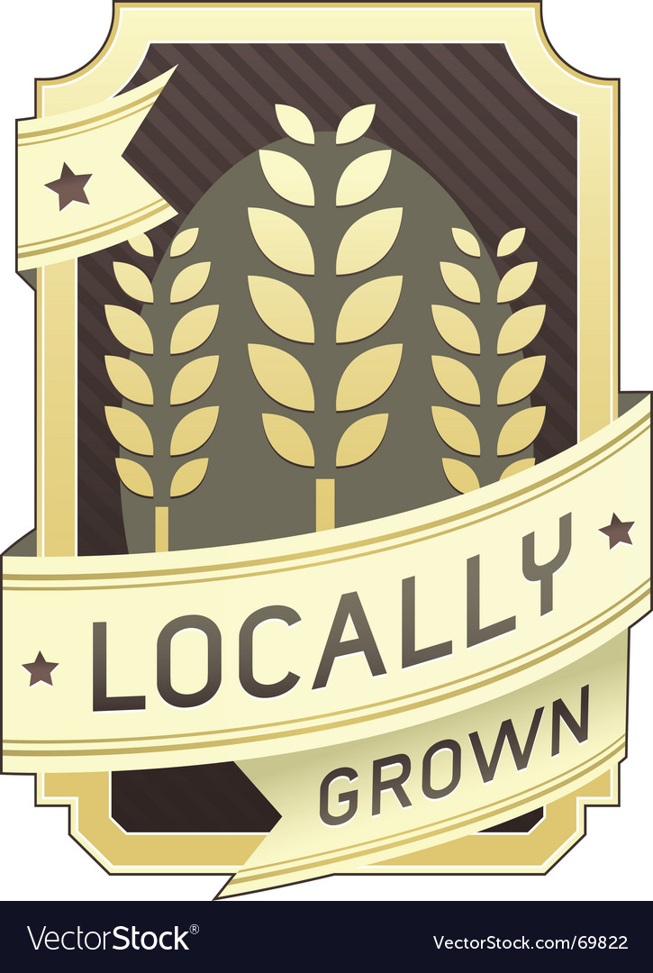 Locally grown package label vector | Price: 1 Credit (USD $1)