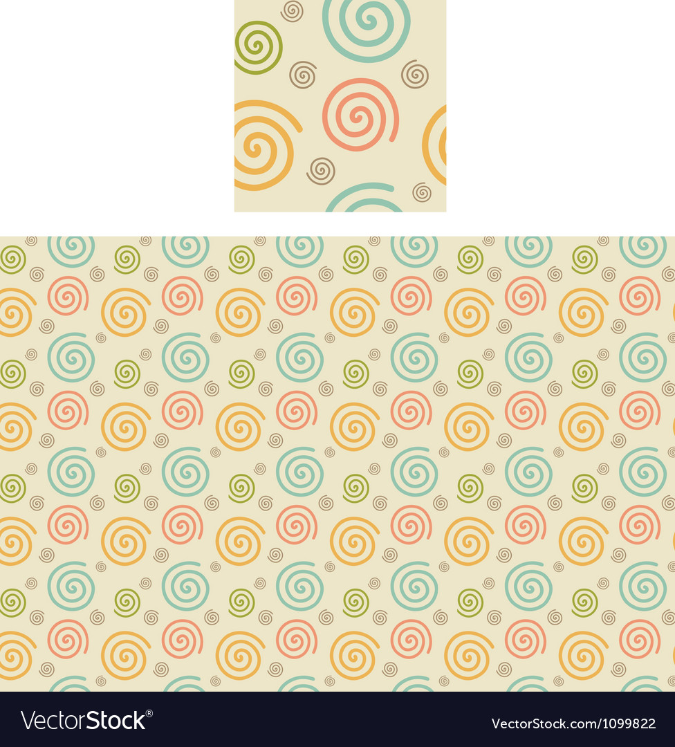 Spirals pattern swatch vector | Price: 1 Credit (USD $1)