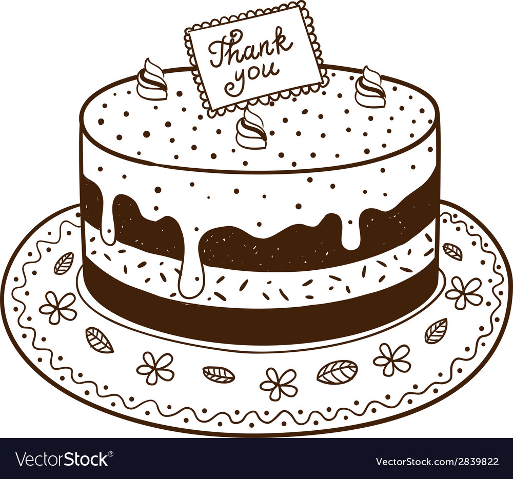 Tasty cake pie with thanksgiving nameplate vector | Price: 1 Credit (USD $1)