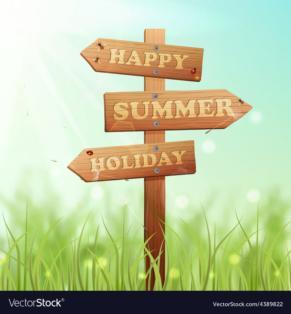 Wooden sign summer vector | Price: 1 Credit (USD $1)