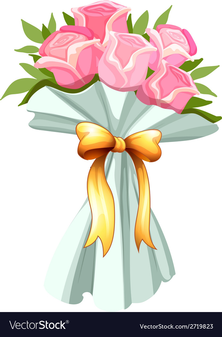 A bouquet of pink roses vector | Price: 1 Credit (USD $1)