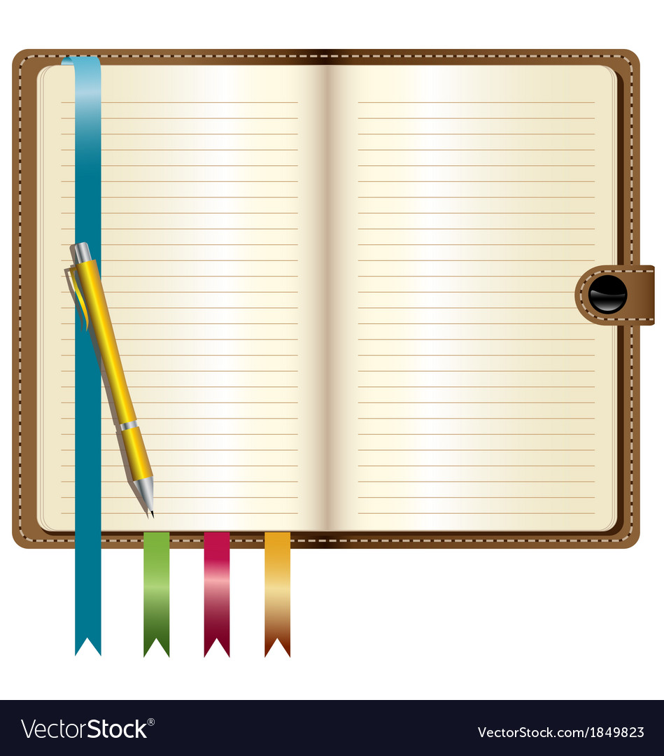 A leather notebook vector | Price: 1 Credit (USD $1)
