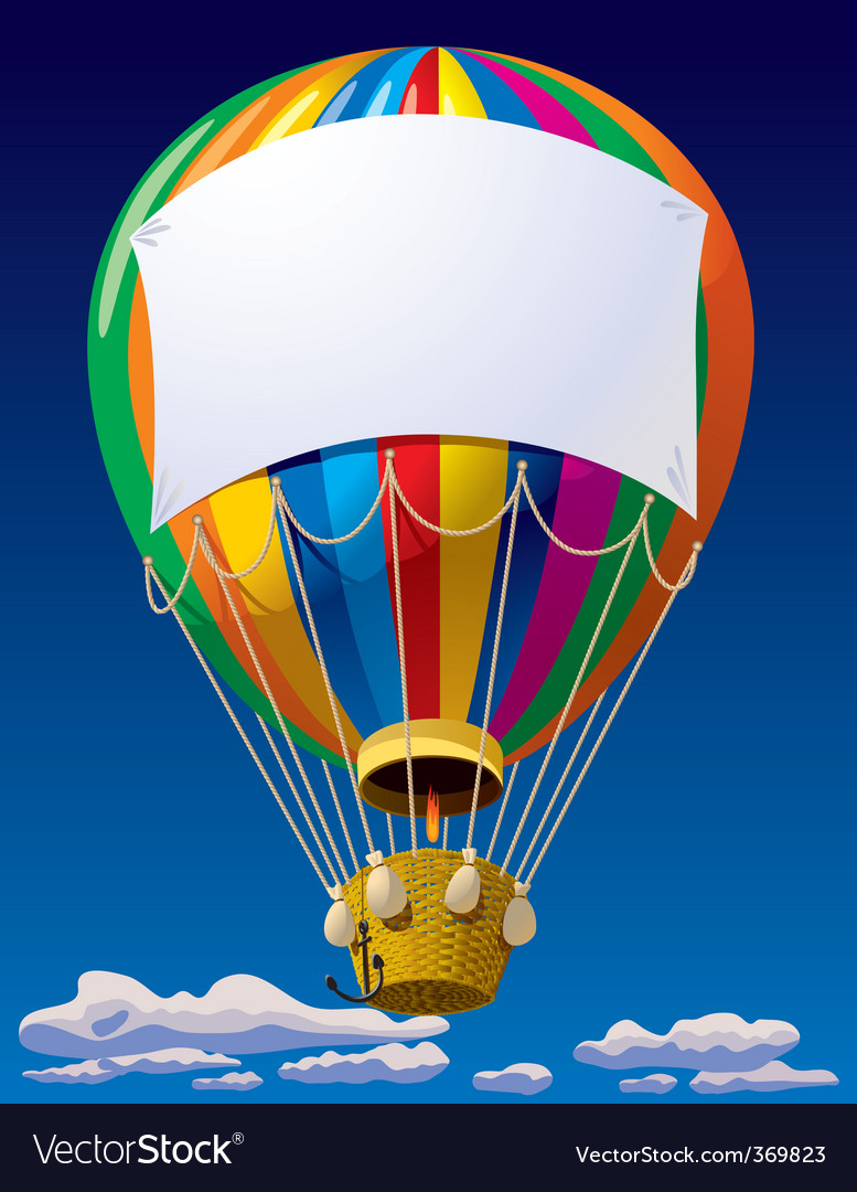 Air balloon in the sky vector | Price: 3 Credit (USD $3)