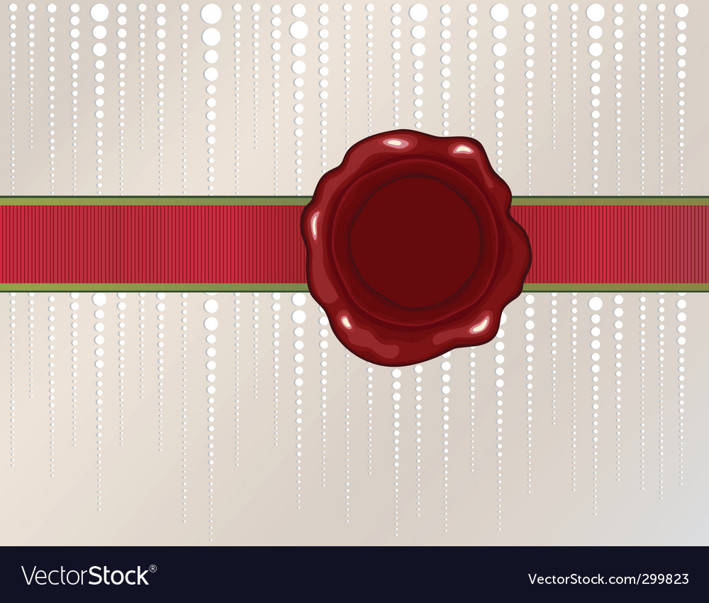 Christmas wax seal vector | Price: 1 Credit (USD $1)