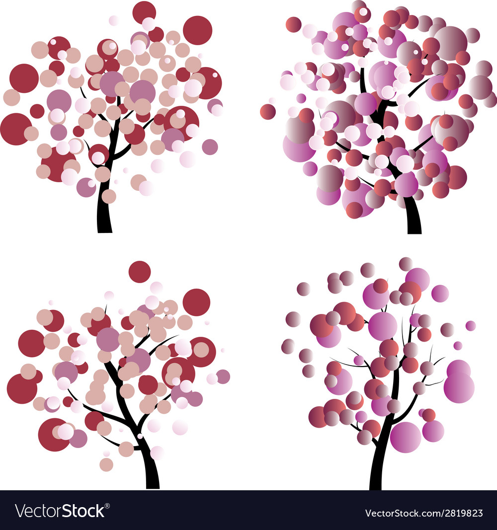 Colorful tree2 vector | Price: 1 Credit (USD $1)