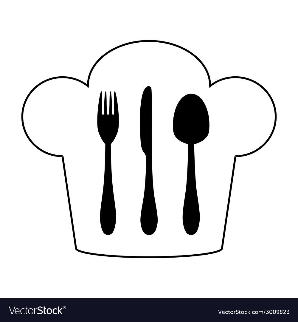 Cutlery and chef hat vector | Price: 1 Credit (USD $1)