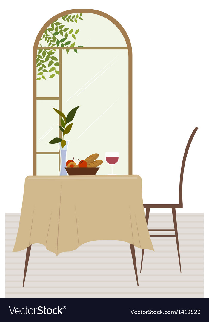 Dining room background vector | Price: 1 Credit (USD $1)