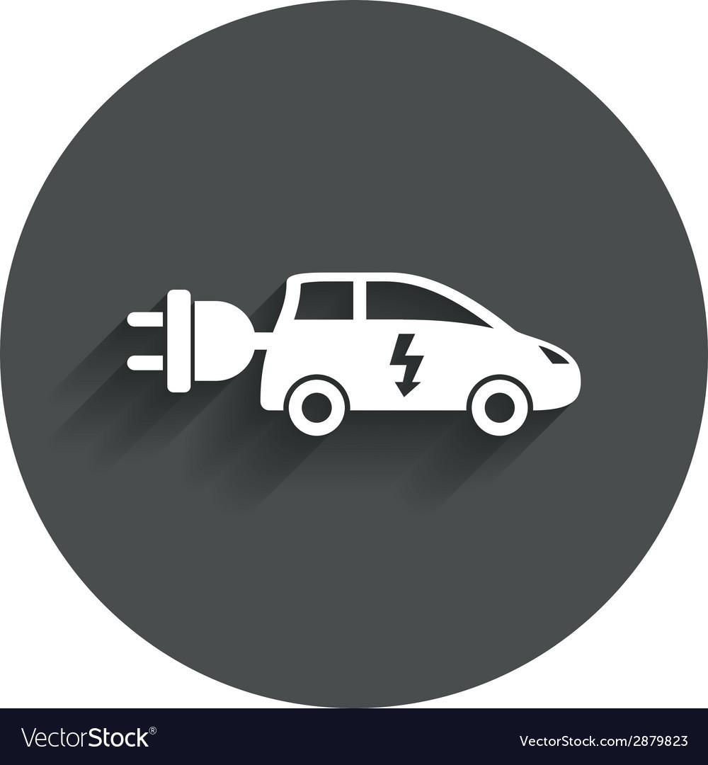 Electric car sign icon hatchback symbol vector | Price: 1 Credit (USD $1)