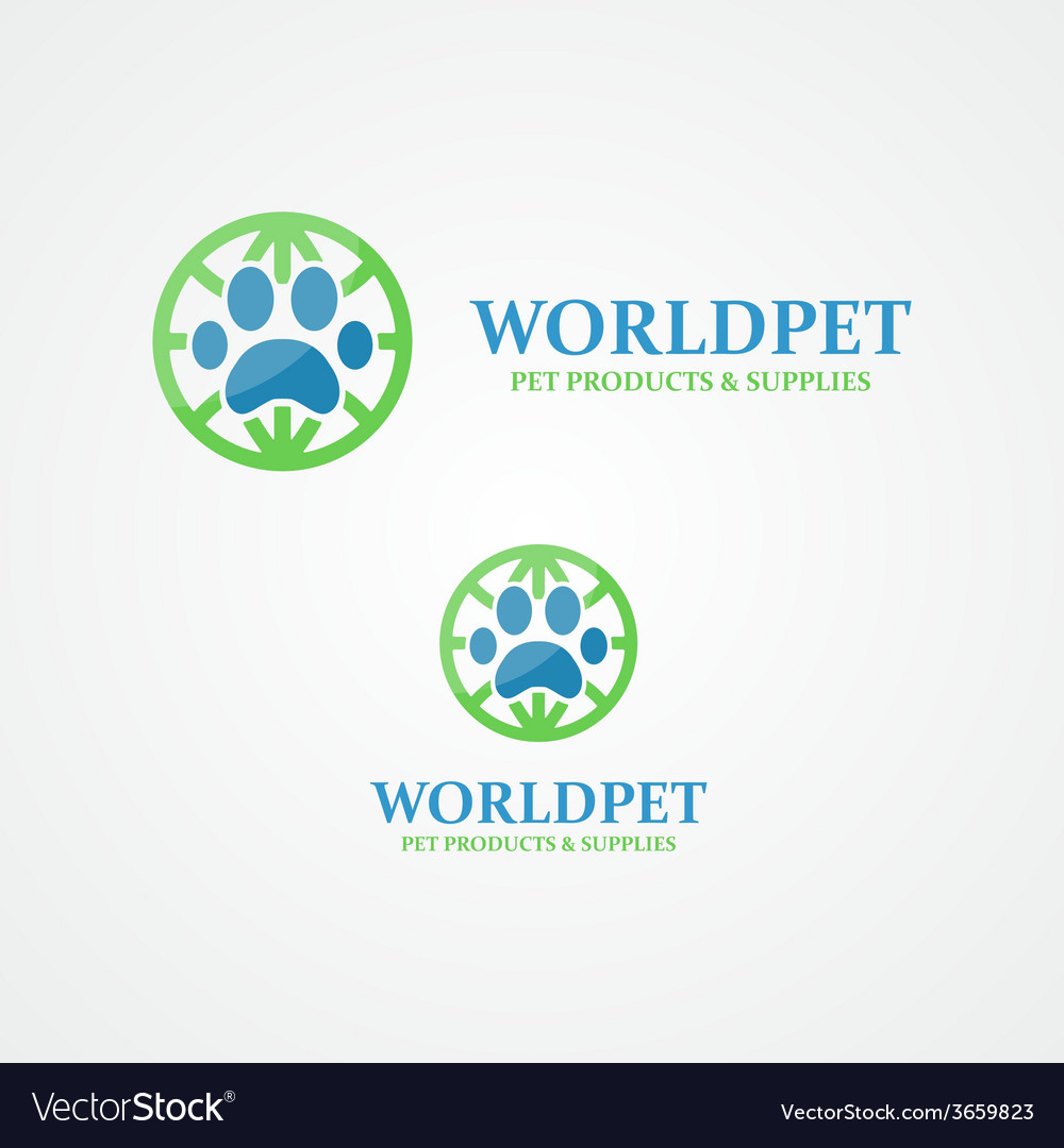 Logo footprint of an animal vector | Price: 1 Credit (USD $1)