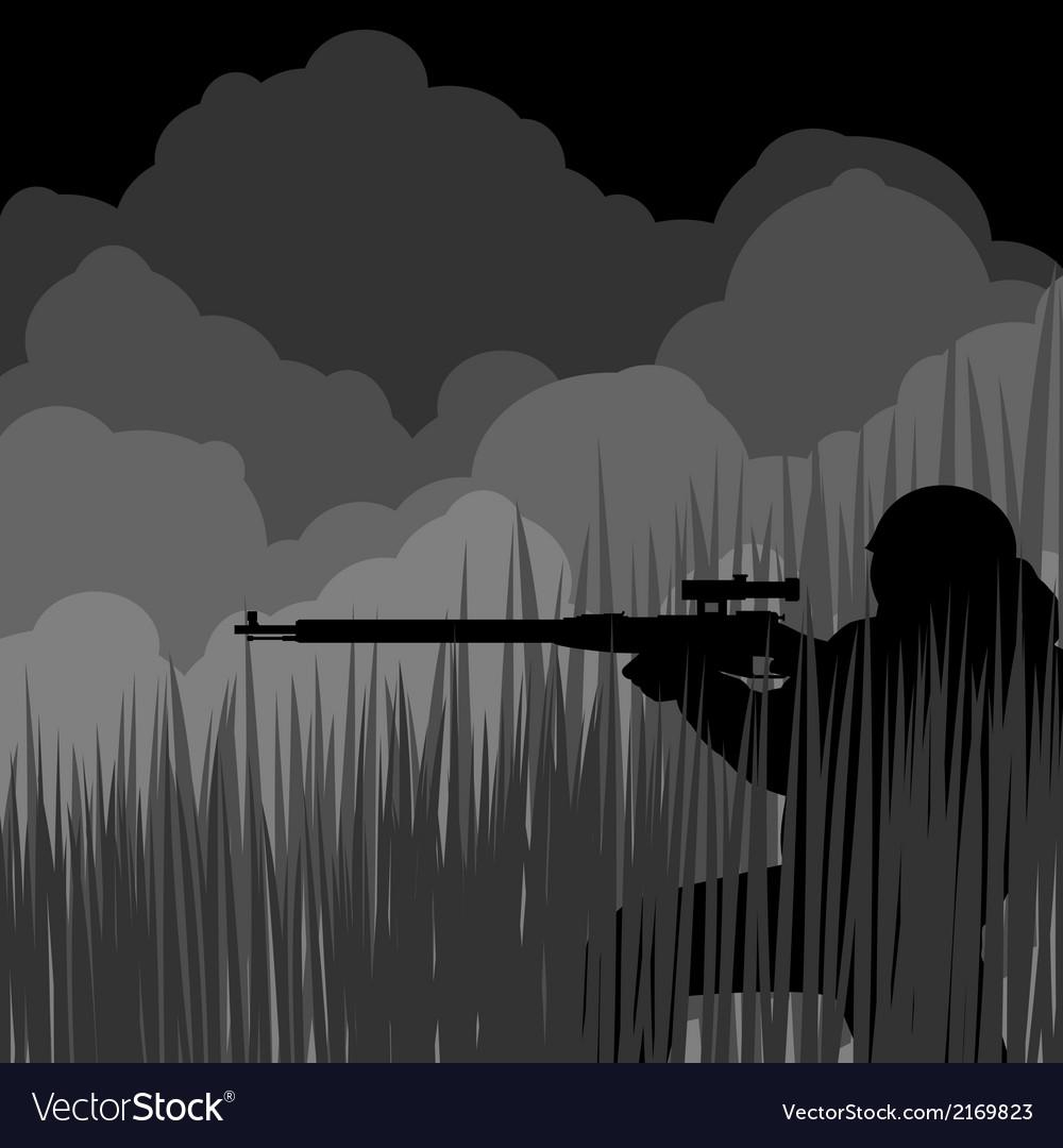 Night sniper vector | Price: 1 Credit (USD $1)