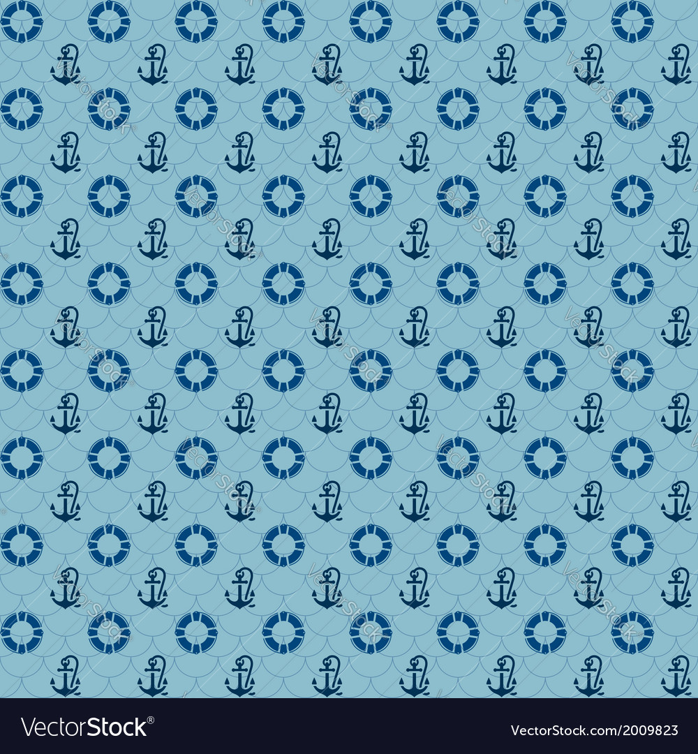 Seamless patterns navy anchors and lifebuoy vector | Price: 1 Credit (USD $1)