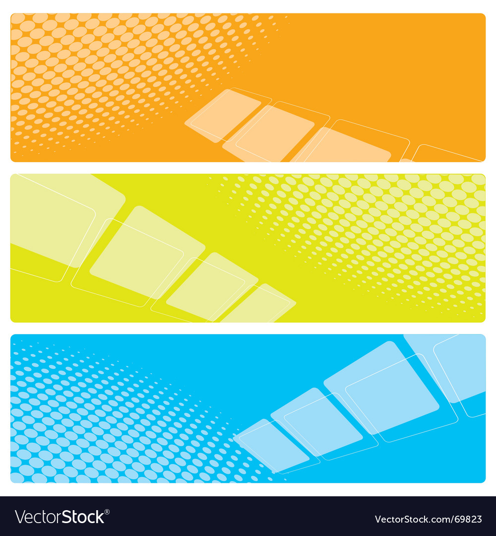 Set of abstract banners vector | Price: 1 Credit (USD $1)