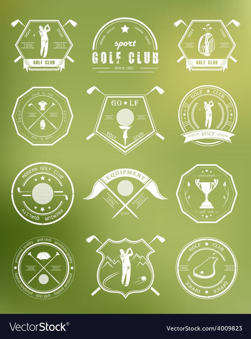 Set of logos and icons golf clubs vector | Price: 1 Credit (USD $1)