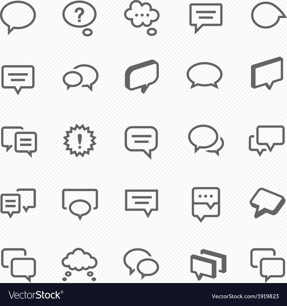 Talk bubble icons vector | Price: 1 Credit (USD $1)