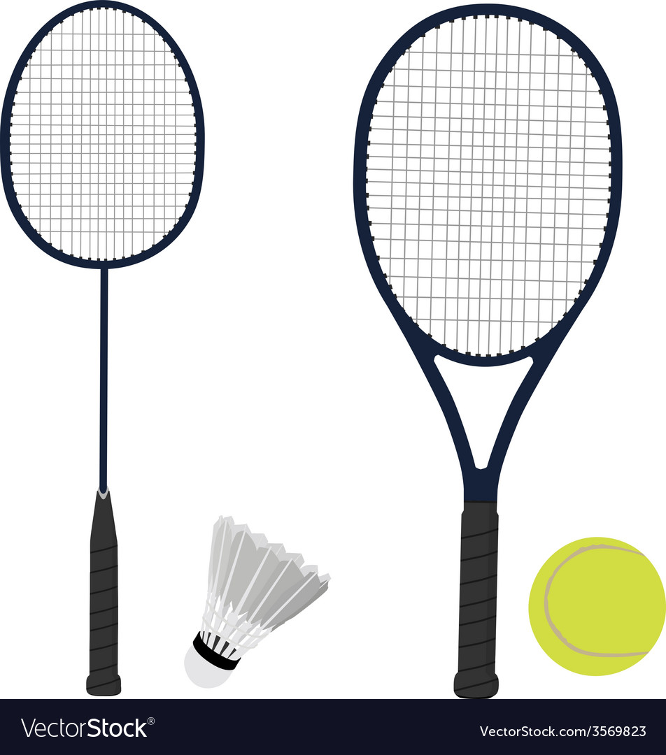 Tennis and badminton racket shuttlecock tennis vector | Price: 1 Credit (USD $1)