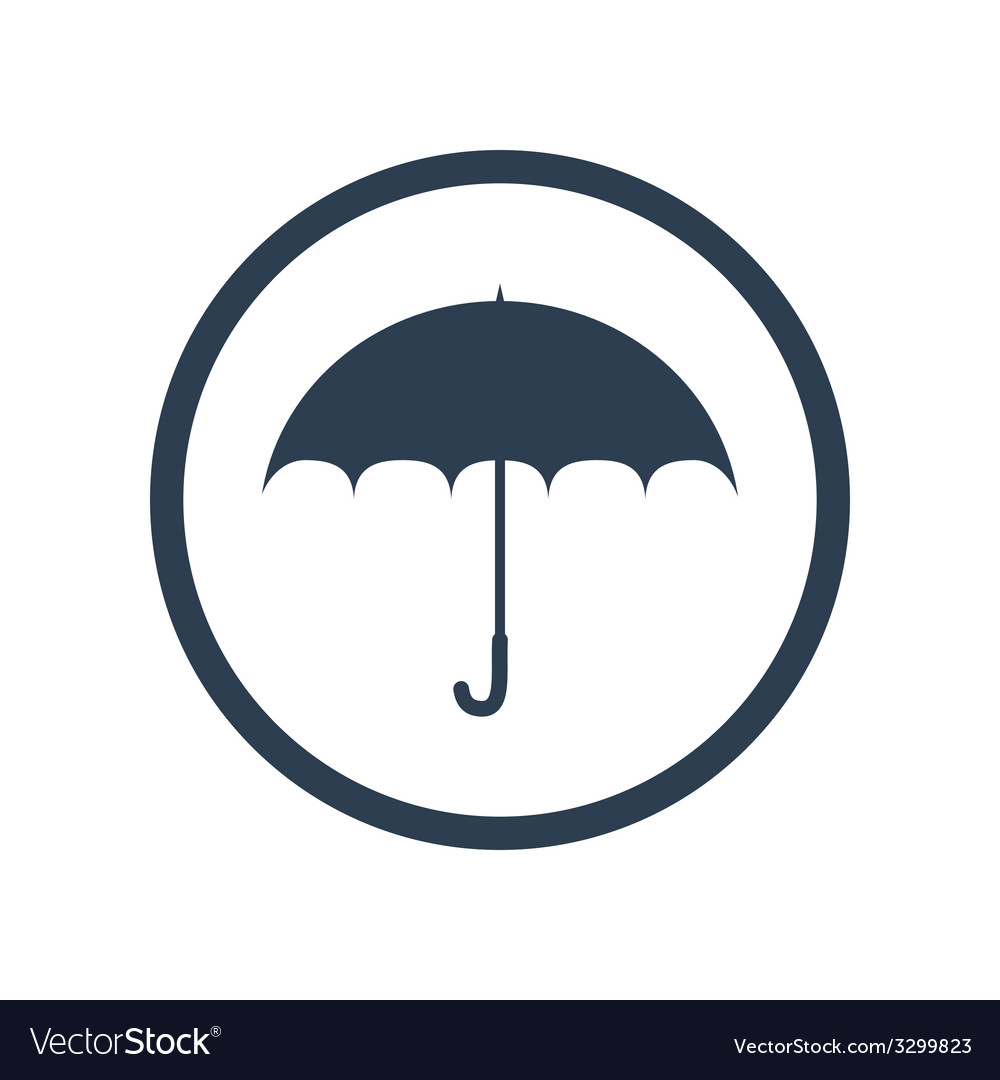 Umbrella flat icon vector   Price: 1 Credit (USD $1)
