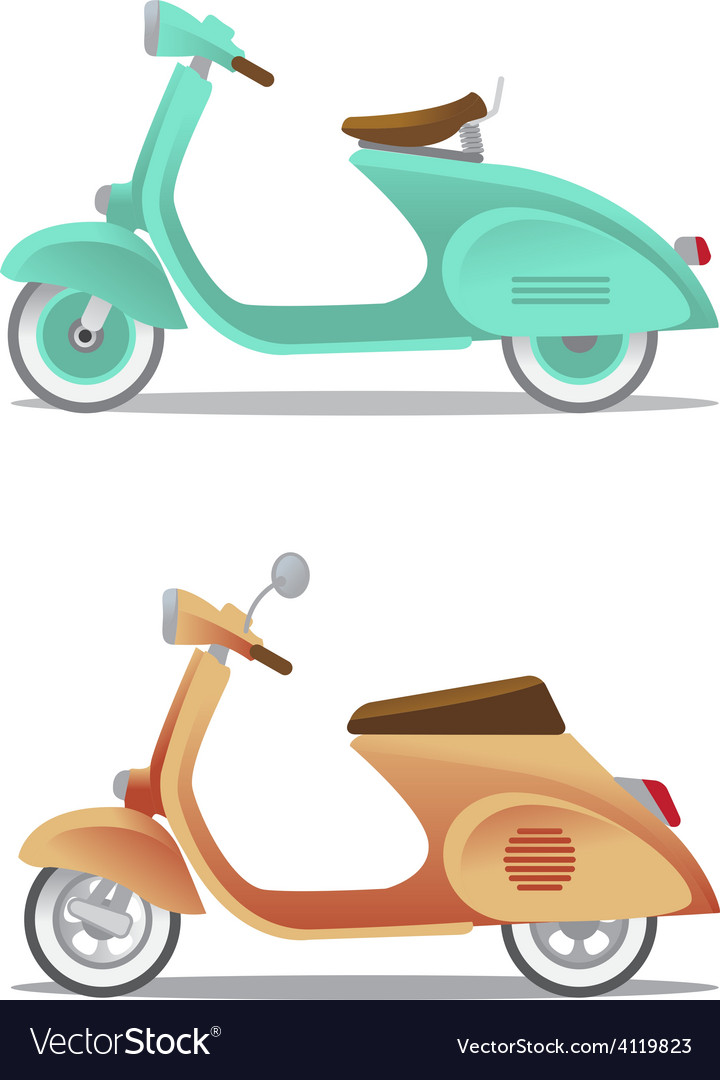 Vintage scooter vector | Price: 1 Credit (USD $1)