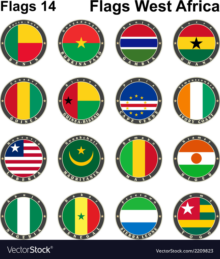 World flags western africa vector | Price: 1 Credit (USD $1)