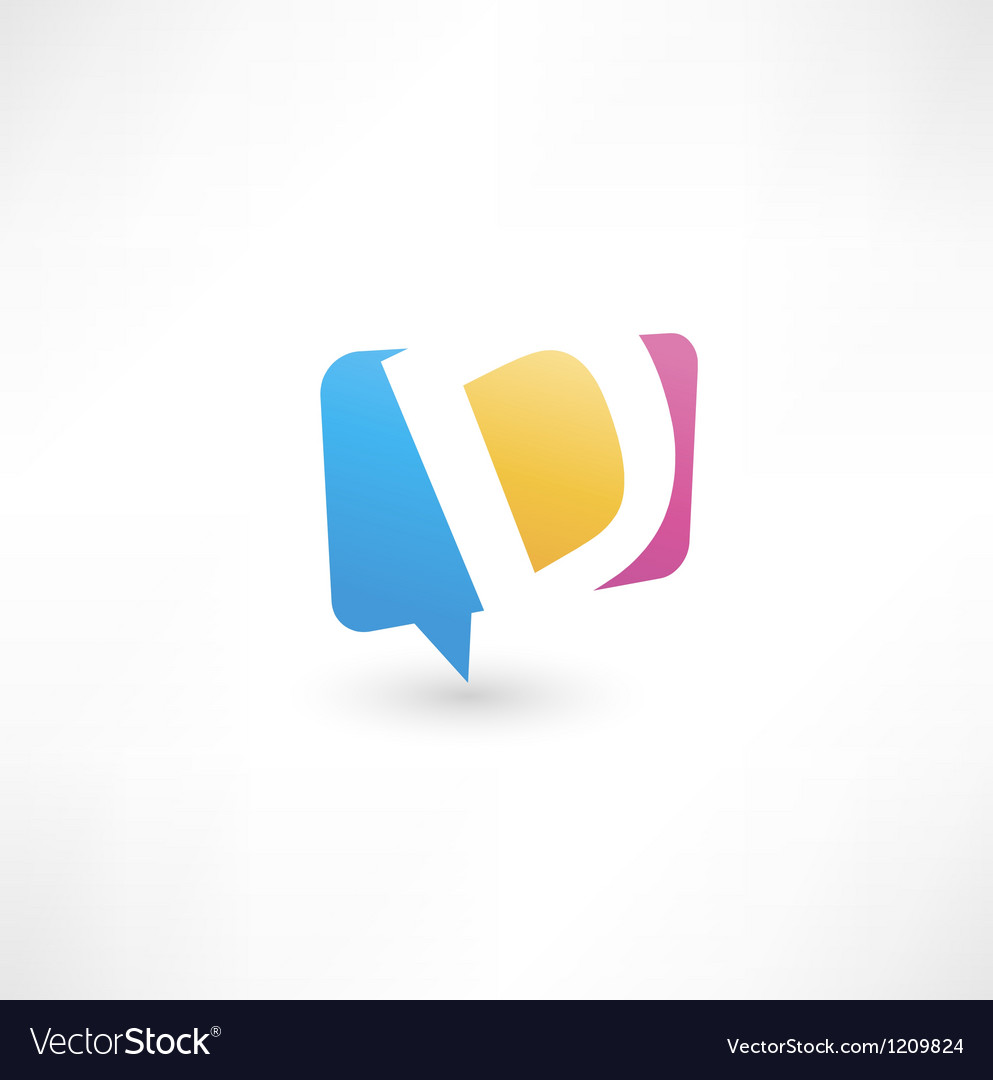 Abstract bubble icon based on the letter d vector | Price: 1 Credit (USD $1)