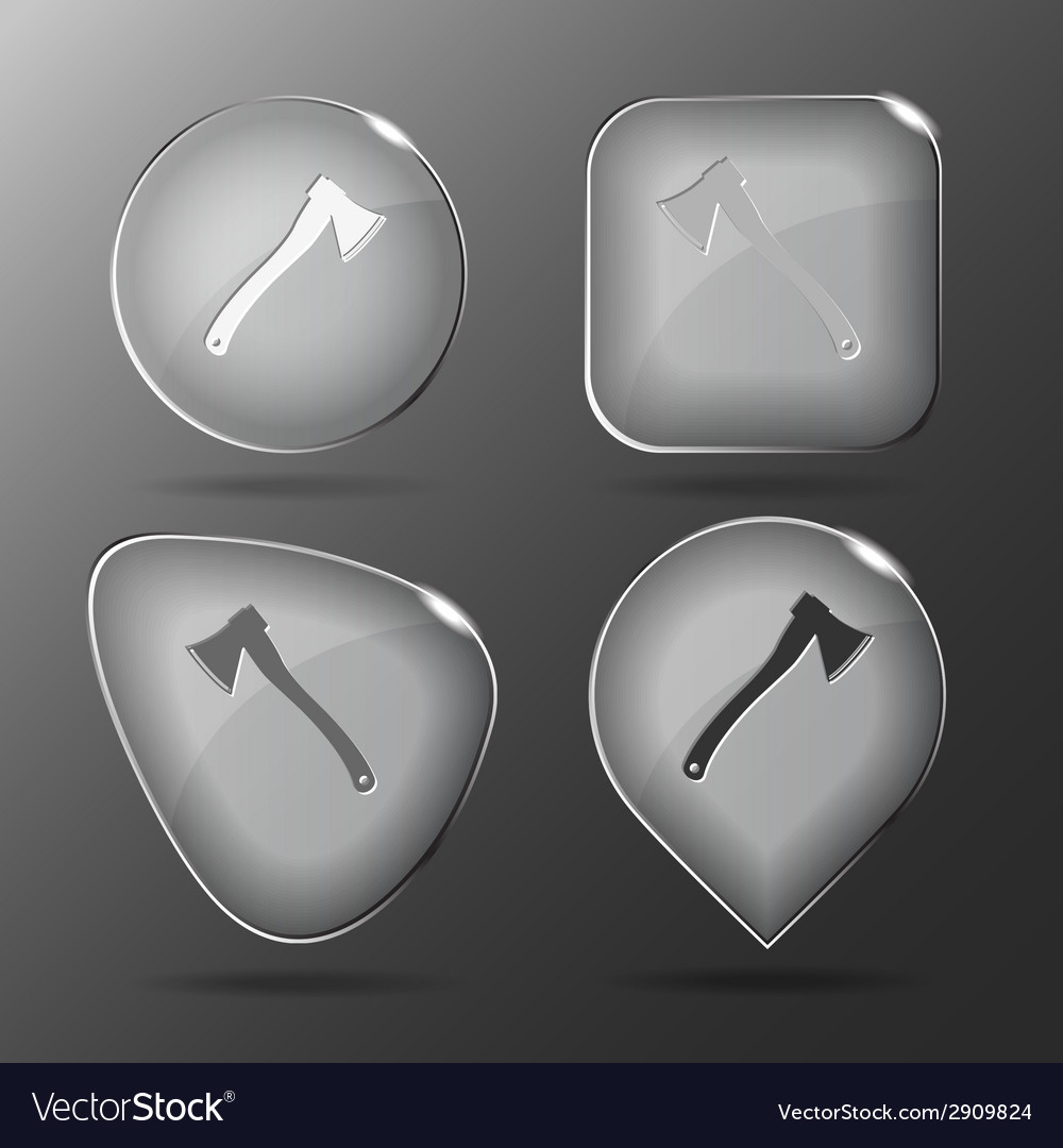 Axe glass buttons vector | Price: 1 Credit (USD $1)