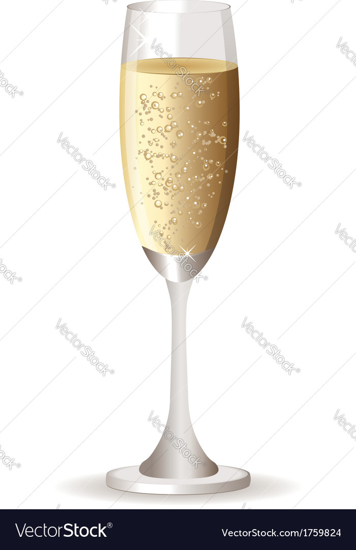 Champagne glass2 vector | Price: 1 Credit (USD $1)