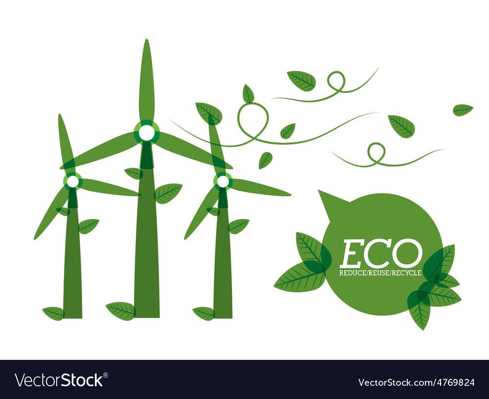Eco city design vector | Price: 1 Credit (USD $1)