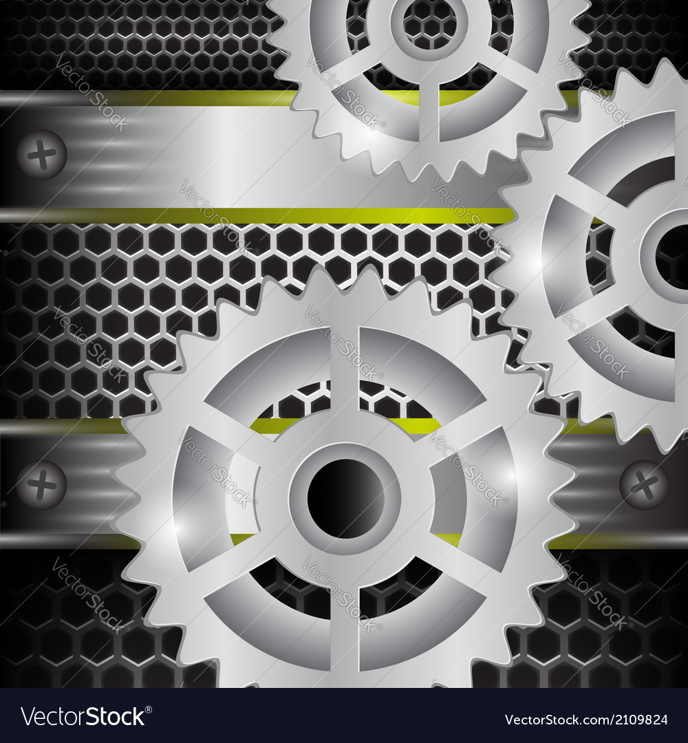 Gears background vector | Price: 1 Credit (USD $1)