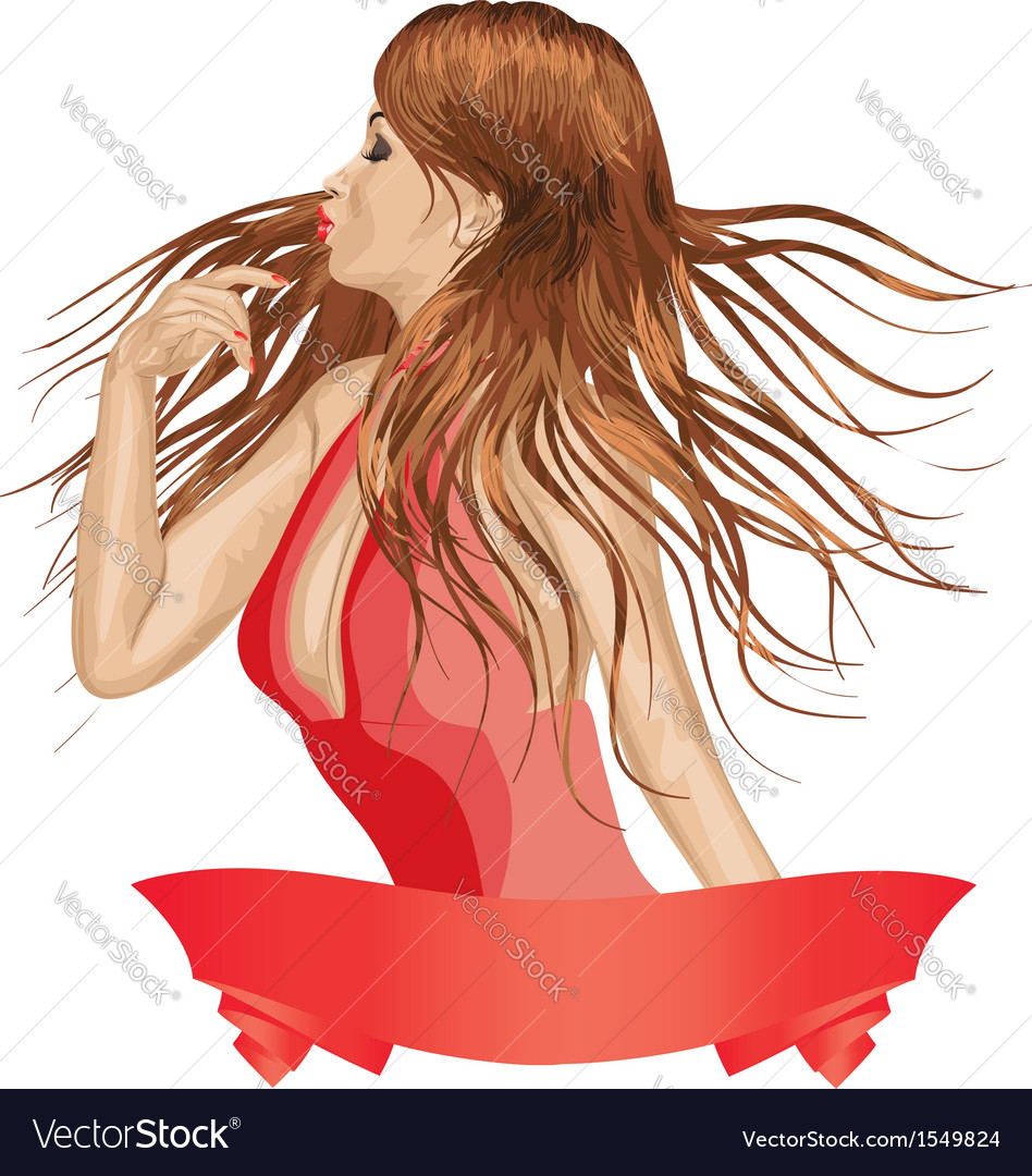 Girl in red vector   Price: 3 Credit (USD $3)