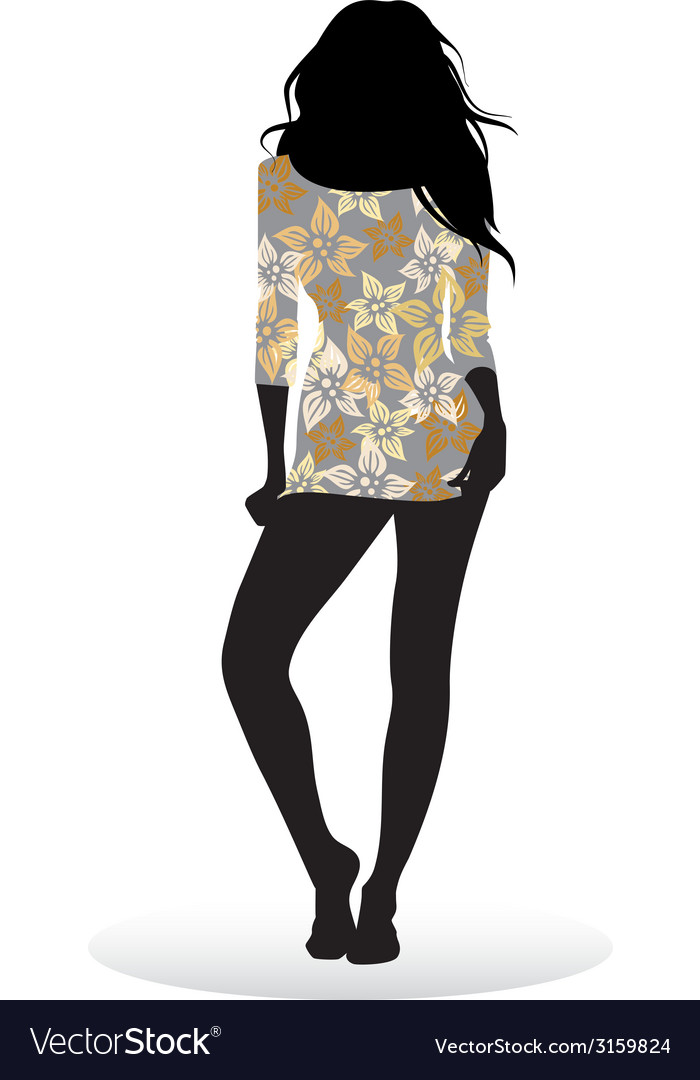 Girl posing vector | Price: 1 Credit (USD $1)