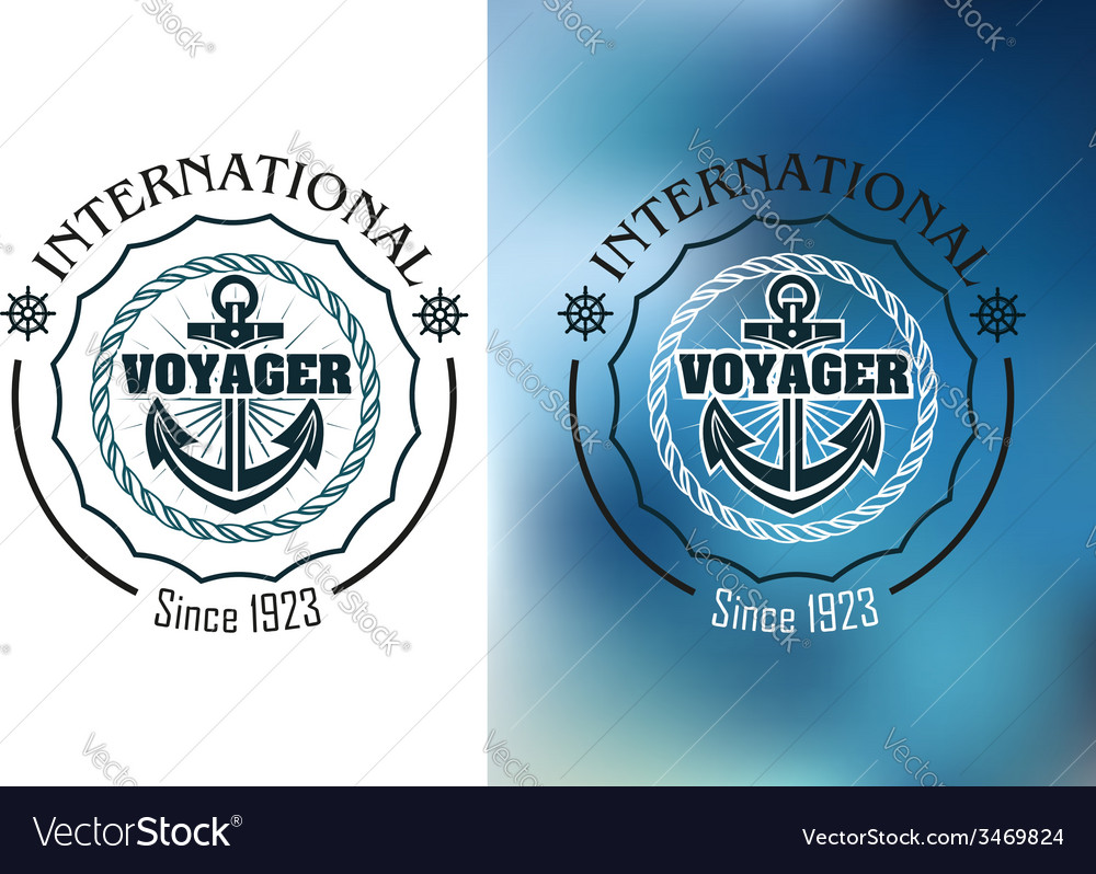 International voyager marine heraldic banner vector | Price: 1 Credit (USD $1)