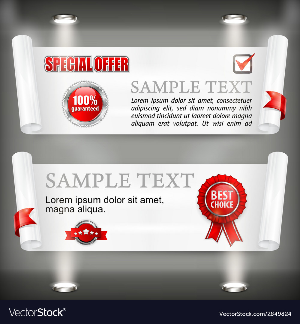 Paper scroll with award sign vector | Price: 1 Credit (USD $1)