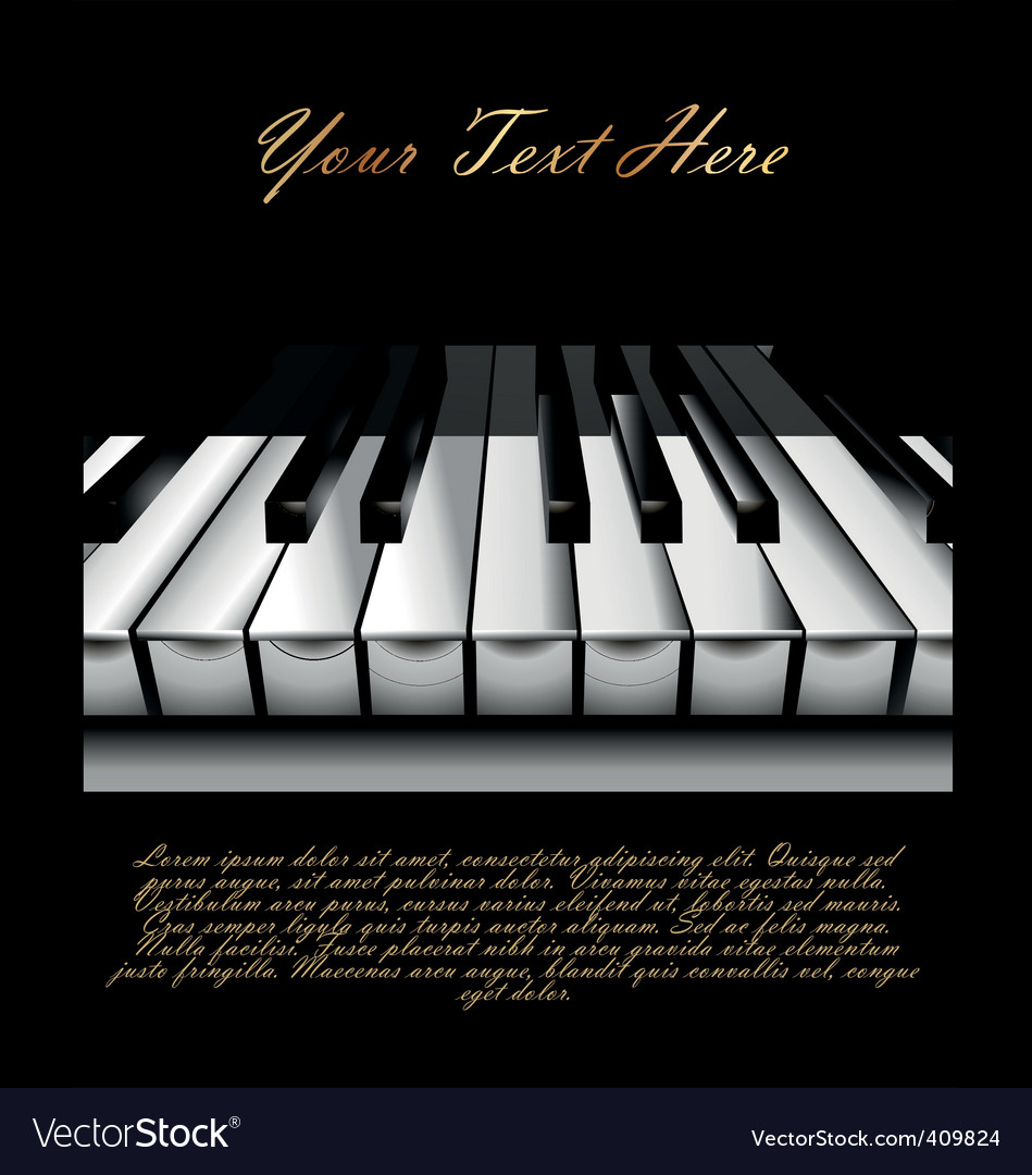 Piano key background vector | Price: 1 Credit (USD $1)