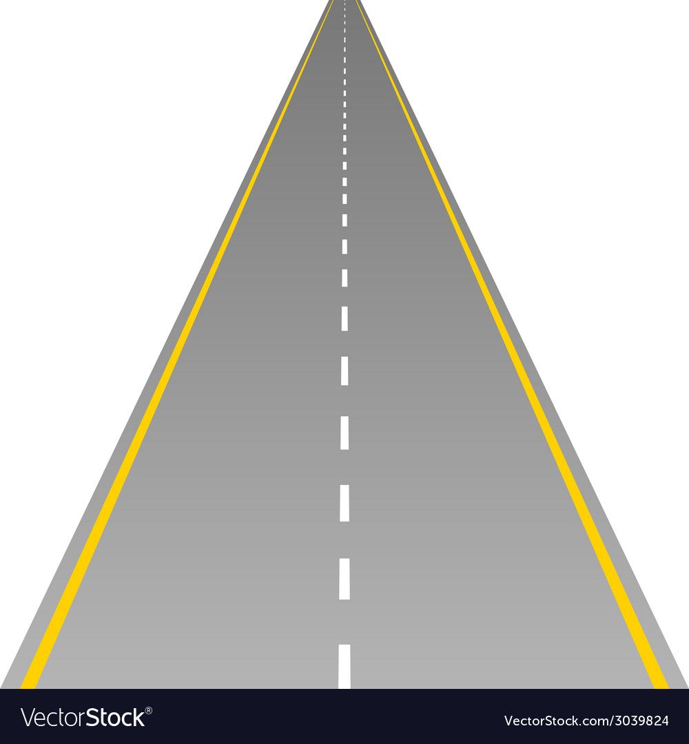 Road on white vector | Price: 1 Credit (USD $1)